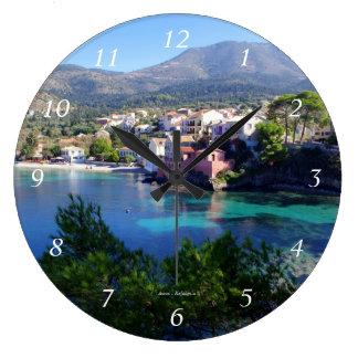 Assos - Kefalonia ラージ壁時計