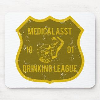 Asst医学の飲むリーグ マウスパッド
