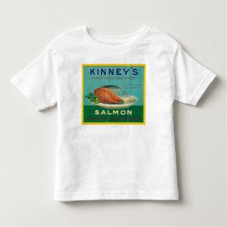 Astoriaのオレゴン- Kinneyのサーモンピンクの場合のラベル トドラーTシャツ