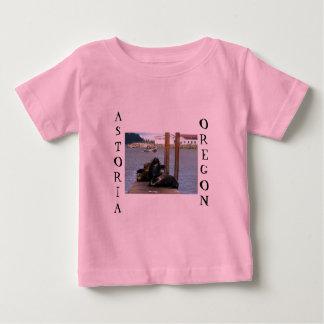 Astoriaオレゴンのあしか ベビーTシャツ