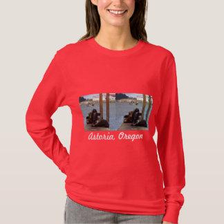 Astoriaオレゴンのあしか Tシャツ