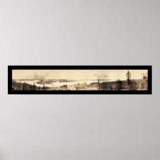 Astoria、か南眺めの写真1912年 ポスター