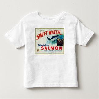Astoria、オレゴン-トムソンの速い水サケ トドラーTシャツ