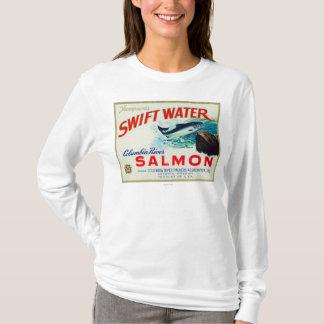 Astoria、オレゴン-トムソンの速い水サケ Tシャツ