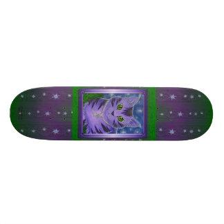 Astraの天の月は猫のファンタジーのスケートボードを主演します 18.1cm オールドスクールスケートボードデッキ