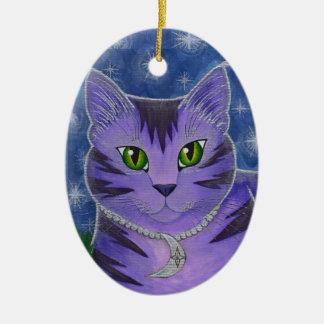Astraの天の月は猫のファンタジーの芸術Ornameを主演します セラミックオーナメント