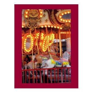 Astrolandの回転木馬(コニーアイランド、NY)の郵便はがき ポストカード