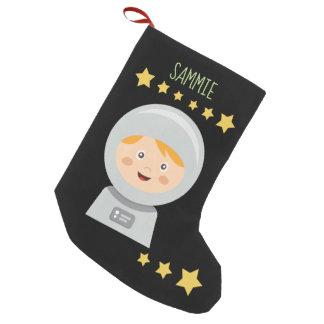 Astronaut - Spaceman Stars In Space スモールクリスマスストッキング
