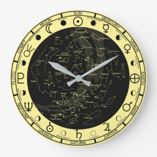 Astronomer's Astronomy Symbols Constellation Clock ラージ壁時計