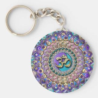 Astrosymbologyの宝石で飾られた曼荼羅Keychain キーホルダー