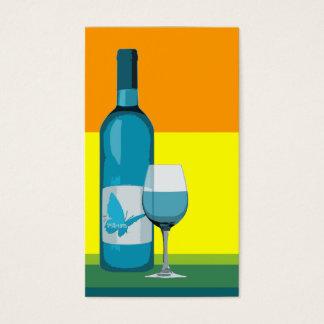 asyrum: ポップ・アートのなワイングラスおよびボトル 名刺