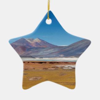 Atacamaの塩湖 セラミックオーナメント