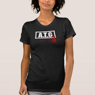 ATG 3 -女性2色のヴィンテージのワイシャツ Tシャツ