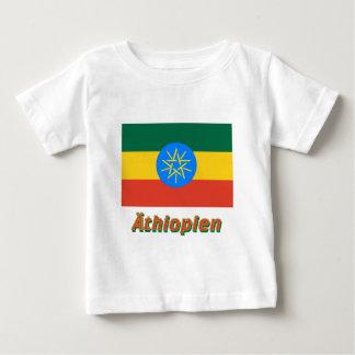 Äthiopien Dienstflagge mitのdeutschem Namen ベビーTシャツ