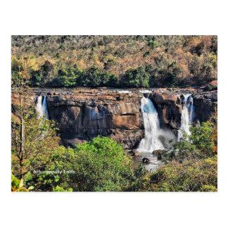 Athirappillyの滝、Panchayath、ケーララ州、インド ポストカード
