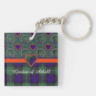 Athollの一族の格子縞のスコットランドのキルトのタータンチェックのゴードン キーホルダー