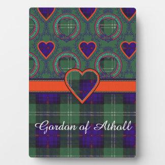 Athollの一族の格子縞のスコットランドのキルトのタータンチェックのゴードン フォトプラーク