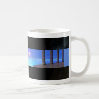 Atlantean寺院-基本的な白いマグ コーヒーマグカップ