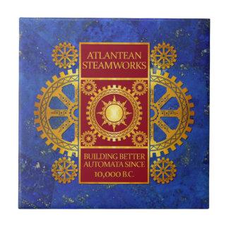 Atlantean Steamworks -ラピスラズリの金ゴールド及び赤 タイル
