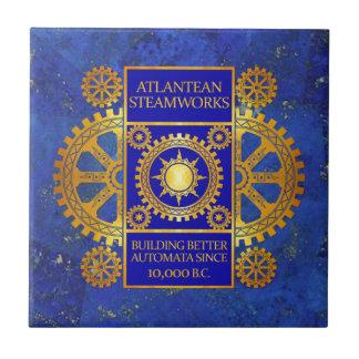 Atlantean Steamworks -ラピスラズリの金ゴールド及び青 タイル