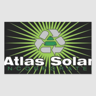 Atlas Solar Inc. 長方形シール