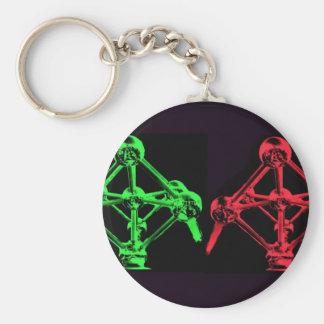 Atomiumのコラージュ キーホルダー
