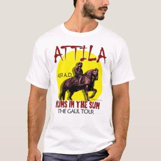 Attila 「日曜日のフン族」旅行(人のライト前部) tシャツ