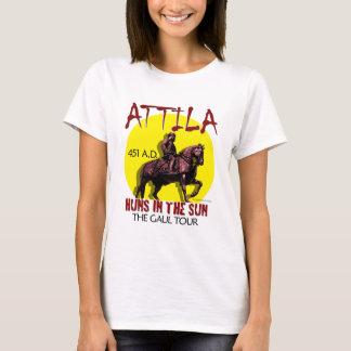"""Attila """"日曜日のフン族""""旅行(女性のライト) tシャツ"""