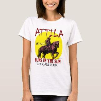 Attila 「日曜日のフン族」旅行(女性軽い前部) tシャツ