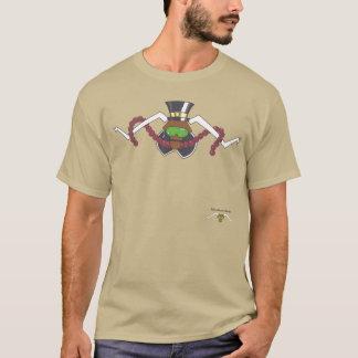 Attitudinous Animals®の単独星の雄牛の感謝祭 Tシャツ