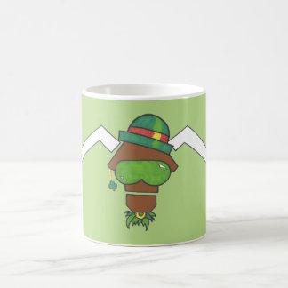 Attitudinous Animals®の単独星の雄牛セントパトリック コーヒーマグカップ