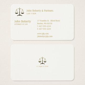 Attorney at Law | Elegant Gold 名刺