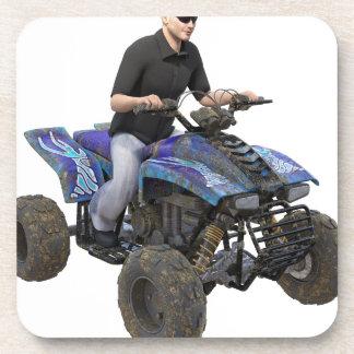 ATVの青い泥のライダー コースター