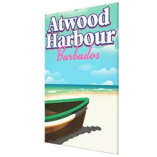 Atwood港のバハマ旅行ポスター キャンバスプリント