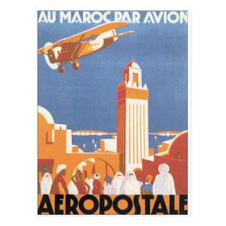 AuのMarocの標準のAvionのヴィンテージ旅行ポスター ポストカード