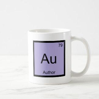 Au -作家化学要素の記号の本のTシャツ コーヒーマグカップ