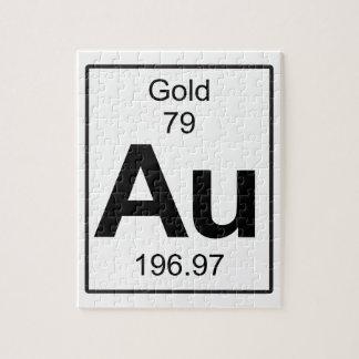 Au -金ゴールド ジグソーパズル