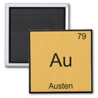 Au - Austenおもしろいな化学要素の記号のTシャツ マグネット