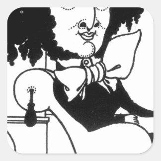 Aubrey Beardsle著フェリックス・メンデルスゾーンの風刺漫画 スクエアシール