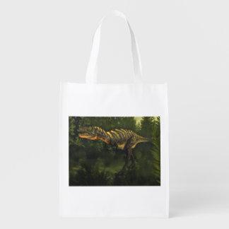 Aucasaurusの恐竜- 3Dは描写します エコバッグ