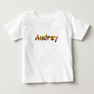 Audreyの短い袖のTシャツ ベビーTシャツ