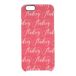 Audrey -モダンな書道の名前のデザイン クリアiPhone 6/6Sケース