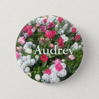 Audrey 5.7cm 丸型バッジ