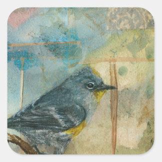 Audubonのアメリカムシクイ スクエアシール