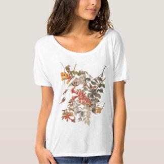 Audubonのルビー色のThroatedハチドリおよび花 Tシャツ