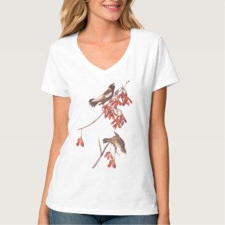 Audubonの米の旗布の鳥かBobolinkの鳥 Tシャツ