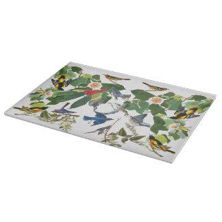 Audubonの鳥の野性生物の動物の花のまな板 カッティングボード