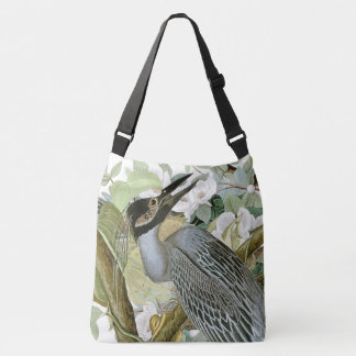 Audubonの鷲の鳩の鳥の野性生物の花のトートバック クロスボディバッグ