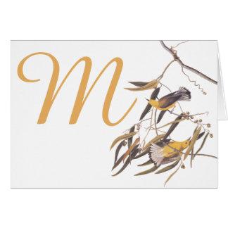 Audubonの黄色いProthonotaryのアメリカムシクイの鳥 カード