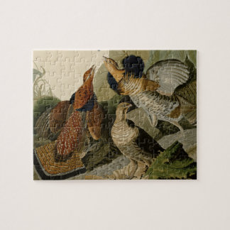 AudubonのRuffedライチョウのトリオの絵画 ジグソーパズル